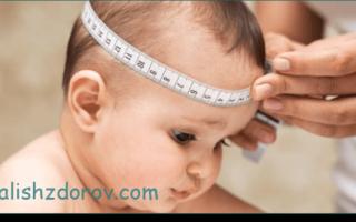 Окружность головы ребенка по месяцам — таблица