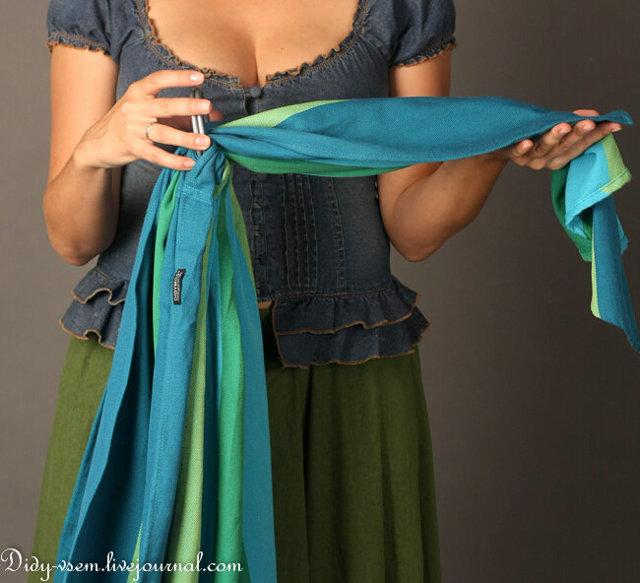 Как правильно носить слинг с кольцами, инструкция по использованию