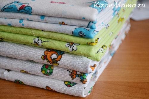 Пеленки для новорожденного своими руками: размер и материалы