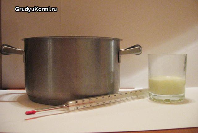 Как подогреть грудное молоко из холодильника