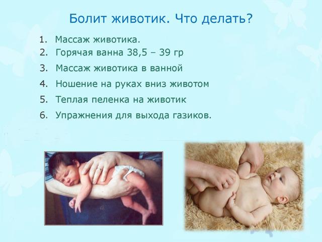 У грудничка бурлит в животе: Что делать